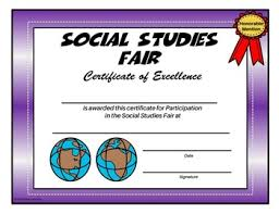 Honorable Mention Certificate Social Studies Fair Certificate Honorable Mention Editable