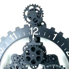 gears wall clock wall clock with gears moving gear wall clock medium image for moving gear gears wall clock