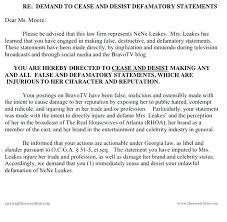 cease desist and letter libel slander texas order vs