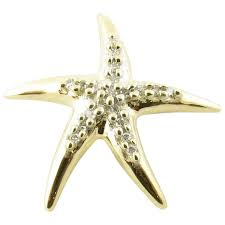 vintage 14 karat yellow gold and diamond starfish pendant gold and silver brokers ruby lane