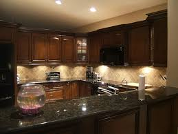 Authentic Dark Cabinets Light Granite Wood With Kitchen Ideas High