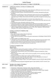 Contract Coordinator Resume Contract Coordinator Resume Samples Velvet Jobs 1