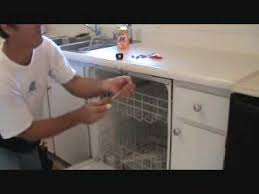 how to secure a loose dishwasher
