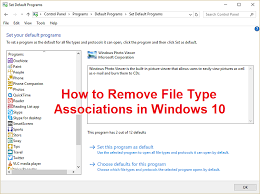 How To Remove File Type Associations In Windows 10 Troubleshooter