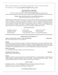Childcare Cover Letter Examples Sample Child Care Resume Worker