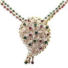 ruby emerald and diamond pendant