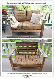 wood pallet furniture ideas. Pallet Wood Chair Furniture Ideas P