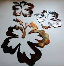 hawaiian metal wall art decor set of 2 mask island home tribal bar articles with fish