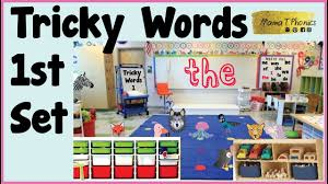 The system of jolly phonics is most commonly used in british curriculum schools. Tricky Words Set 1 Jolly Phonics Red Level High Frequency Words Youtube