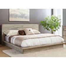 White-Washed Modern Rustic Queen Platform Bed - Renewal | RC Willey  Furniture Store