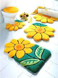 bathroom 3 piece rug set bath rug set impressive design bathroom rugs set yellow medium size