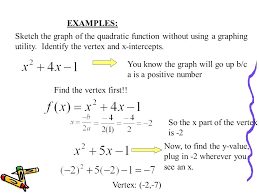 finding x intercepts of a quadratic function math examples sketch the graph of the quadratic function