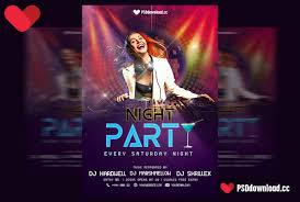 Free Party Flyer Templates Get Free Night Party Flyer Template Freedownloadpsd Com