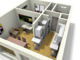 D Apartment Design Insight Of  Bedroom D Floor Plans In Your - Small apartment floor plans 3d