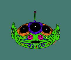 Design A Sugar Skull Online Toy Story Alien Sugar Skull Art Print Squiddle Design