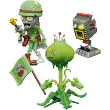 diamond select toys plants vs zombies garden warfare 2 select weedpart vs solr zombie action figure com