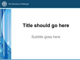 Powerpoint Template Research Powerpoint Templates The University Of Edinburgh