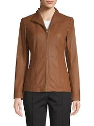 cole haan leather princess seam jacket goxip