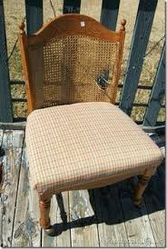how to repair and upholster a broken caned back chair