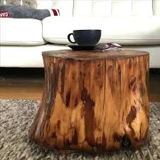 wood stump coffee table side log tables rustic tree trunk furniture base glass uk