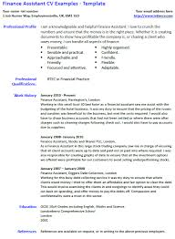 Finance Assistant Cv Example And Template Lettercv Com