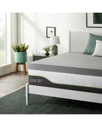 memory foam mattress topper 4 inch. Unique Inch Lucid Comfort Collection 4Inch Bamboo Charcoal Grey Memory Foam Mattress  Topper  Throughout 4 Inch T