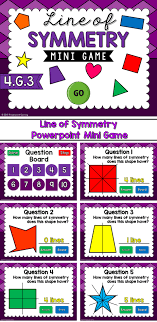 Lines Of Symmetry Powerpoint Line Of Symmetry Mini Game Powerpoint Games Pinterest Math