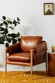Full size furniture unique furniture Boys Havana Leather Chair Dawn Sears Unique Furniture Designer Furniture Anthropologie