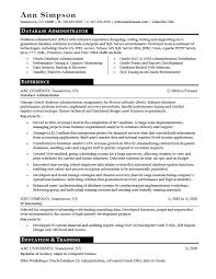 Database Administrator Resume Sample | Monster.com