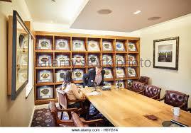 office space memorabilia. Manchester Oxford Court PFA Office Boardroom Football Caps Framed Used Large Table Memorabilia Space Interior I