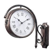 two side clock train station clocks4 compas compas wall clock inch european doublesided clock living compas