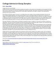 University Entrance Essay Examples Pohlazeniduse
