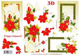 Poinsettia Designs Candles Poinsettia Christmas Rose Flower Designs 3d Decoupage Sheet