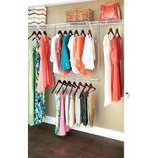 double rod hanging closet organizer s closet organizer home depot canada