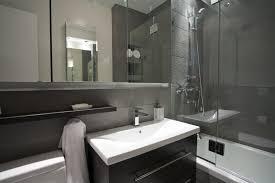 Bathroom  Pedestal Sink Floating Glass Shelves White Toilet - Condo bathroom remodel