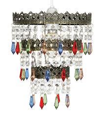 ekon small multi coloured glass bead ceiling lamp shade