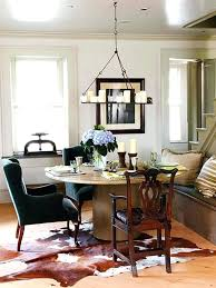 rug under round dining table how to place a rug with a round dining table 5