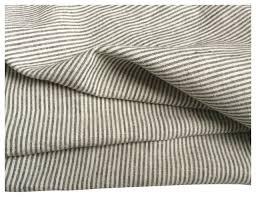gray white ticking stripe bed top sheet twin