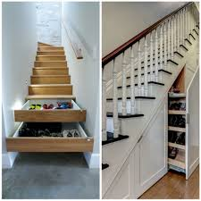 Under-stair shoe storage