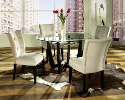 astonishing white round modern glass dining room table sets stained