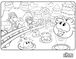 Small Picture Club Penguin Coloring Pages Free Bebo Pandco