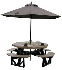 amazing outdoor dining room with octagon outdoor picnic table interesting outdoor dining room design and