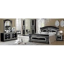 3 piece queen bedroom set. Perfect Set Luca Home Black Silver 3piece Queen Bedroom Set In 3 Piece E