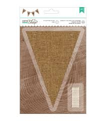 american crafts diy 2 natural burlap pennant jute string banner