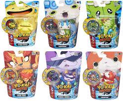 Now he's looking for a new one. Amazon Com Set Of 6 Yo Kai Watch Medal Moments Happierre Wiglin Blazion Baddinyan Komasan Jibanyan 100 Punch Toys Games
