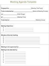 Sample Meeting Agenda Staff Format Best Template Team Excel ...