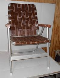 vine lawn deck cing chair web aluminum folding webbed patio retro ebay