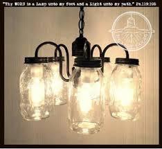 mason jar lighting fixture. Mason Jar CHANDELIER 5-Light Cluster NEW Quarts Mason Jar Lighting Fixture