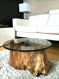 wood stump end tables side table root coffee log furniture large wooden tree tree stump end table o75