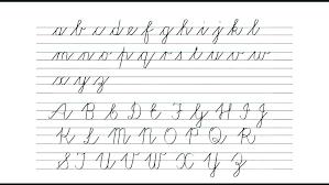 Cursive Letters Chart 26 Abiding Cursive Handwriting Chart Free